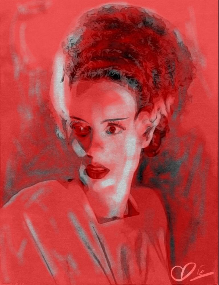 Elsa Lanchester by Adzee